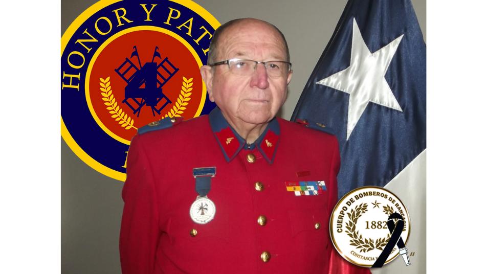 Fallece Director Honorario del Cuerpo de Bomberos de Rancagua Patricio Herrera Marchant (Q.E.P.D.)