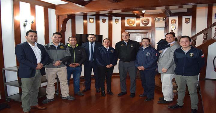 Presidente Nacional recibió a delegaciones de los Cuerpos de Bomberos de Hualqui y Coronel