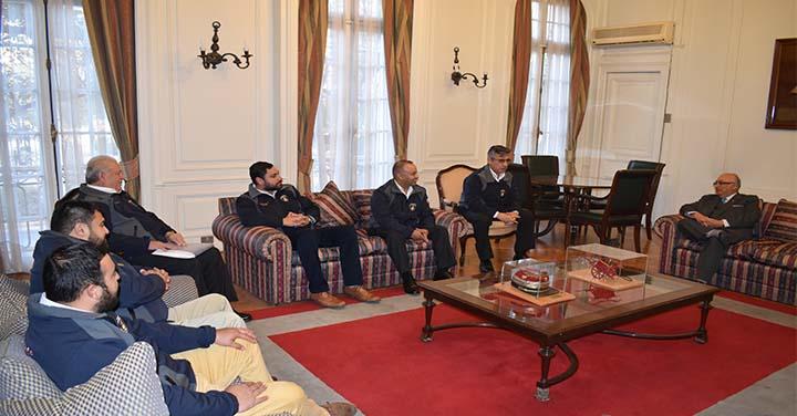 Presidente Nacional se reunió con Bomberos de San Pedro de la Paz