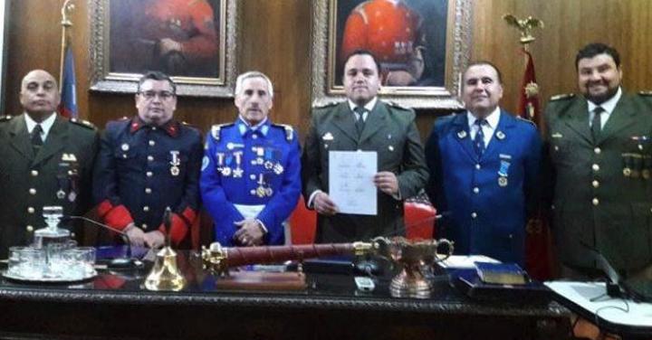 Reunión nuevo directorio Capellanía Nacional de Bomberos de Chile