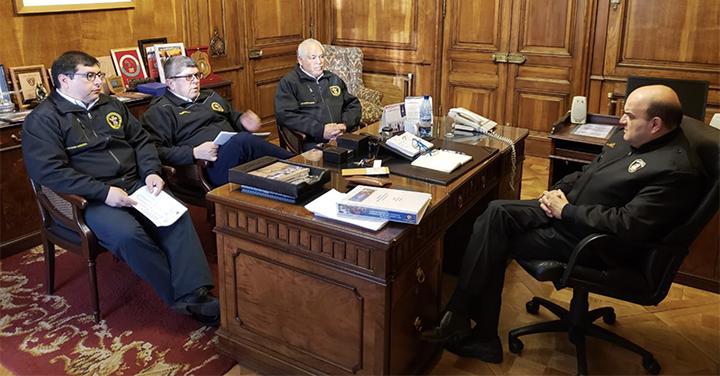 Presidente Nacional se reunió con Cuerpo de Bomberos de Buin