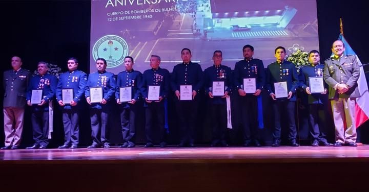 Presidente Nacional participó en Aniversario del Cuerpo de Bomberos de Bulnes