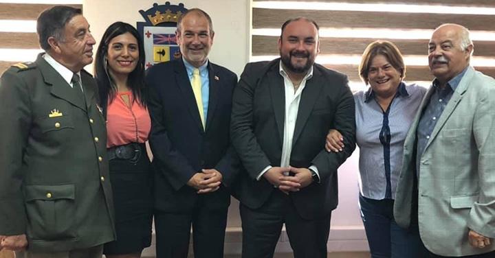 Cuerpo de Bomberos de Coquimbo visitó al alcalde de la comuna